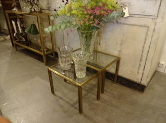 1 Pair of Brass Tables