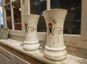 1 Par opalglasvaser