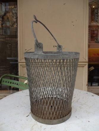 Zinc Basket Bucket