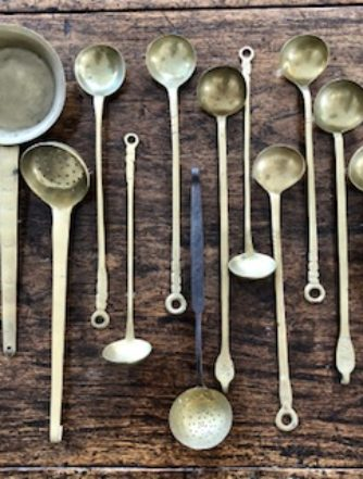 Set of Brass Spoons