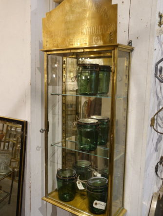 Brass Wall Display Cabinet