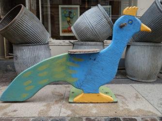 Børnekarruseldyr – Påfugl