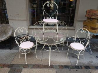 Garden Set-Sofa 3 Chairs 1 Table